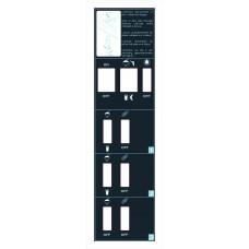 7.41 F217/5  Sticker Control Panel 3