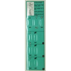 Sticker Control Panel Faby 3  Green