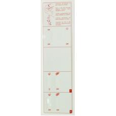 Sticker Control Panel Faby 2  White