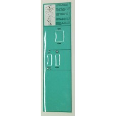 Sticker Control Panel Faby 1  Green